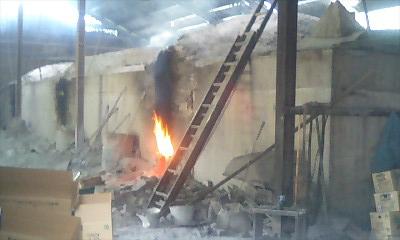 備長炭を焼く窯