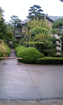 雨に緑が美しい雅俗山荘