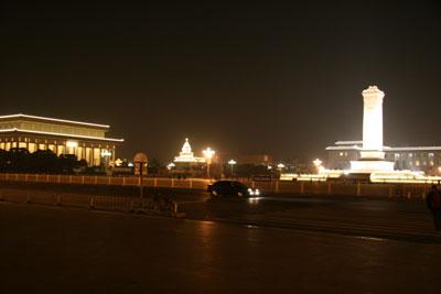 電飾の天安門広場