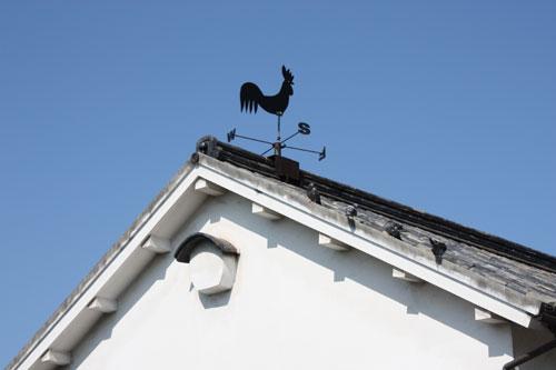 倉敷美観地区の風見鶏