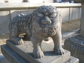 曹渓寺の獅子