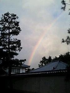 相国寺にかかる虹