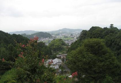 小高い山の上からの眺望